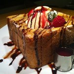 STEP STAMP cafe - ❤Honeyトースト❤~ラズベリー&チョコソース添え~