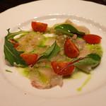 ブリボン - 料理写真:鹿児島産 ヒラススキのカルパッチョ
