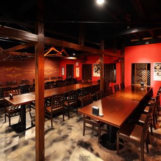 *【大宴会】二階は最大55名様まで対応可能なテーブル席♪