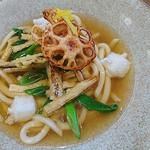 林屋茶園 - 二葉御膳 京風うどんと海鮮丼セット