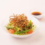 湖穂里 - じゃこと揚げ蕎麦サラダ
