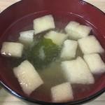 神田 万丸 - 味噌汁は揚げがたっぷり