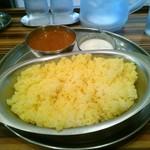ターリー屋 - 料理写真:インドカレー定食(キーマ)