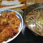てんや - 料理写真:バラ豚丼と、温そばセット920円
