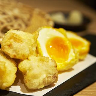 【信州戸隠蕎麦】名古屋コーチンの親子天ぷら蕎麦をご用意♪