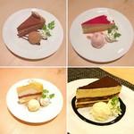 各種ケーキ ~アイス添え~