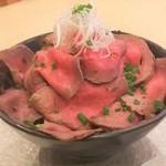 豪州牛(オージービーフ)ローストビーフ丼ランチ