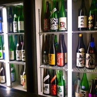 【日本酒】にとことん・・・70~80種をご用意