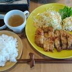cafe fika - 料理写真:日替わりランチプレート(ロースカツ) 980円