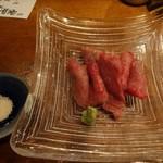 82436214 - 松阪牛 炙り刺1,500円(税抜)
