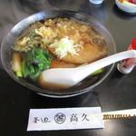 釜めしたかひさ - 料理写真:「むじな(そば) 550円」