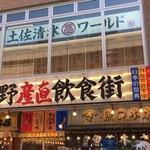 土佐清水ワールド - ビルの2階にお店があります。