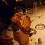 オーベルジュ ド プリマヴェーラ - ロゼシャンパンで乾杯♪