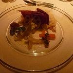 オーベルジュ ド プリマヴェーラ - 前菜:イタリア産プロシュートと和野菜のギリシャ風。