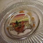 オーベルジュ ド プリマヴェーラ - 虹色のスフレグラス。とっても綺麗!!