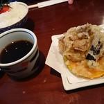 82441029 - 明太子ご飯と天ぷらセット(880円・税込)