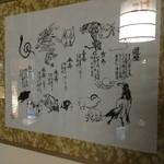 中国精進料理 凛林 - 相当な書家なのかも