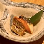 和食と炭火焼 三代目 うな衛門 - 縞鯵と鰤の燻製