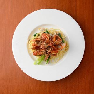 【郷土料理】メイン料理はパスタ&グリル料理