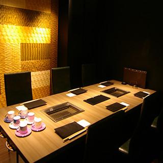 6名様~最大10名様迄対応の個室を完備しております。