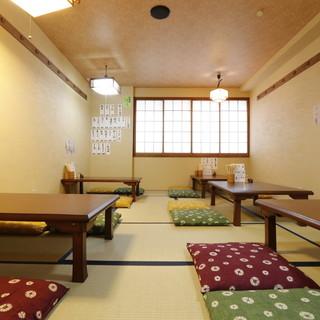 2階席はご家族連れ、ご宴会などでご利用頂ける座敷席です
