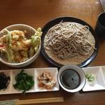みろく - ミニ天丼セット1500円