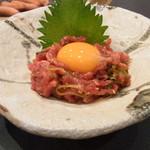 きはら - 肉専科白山白のユッケ(11/04)