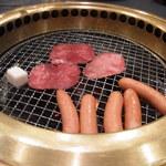 きはら - 肉専科白山白のタン塩とソーセージ(11/04)