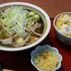かつ太郎 - 料理写真:坂東肉そば(1004円)、ミニかつ丼(529円)