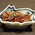 焼肉 武田や - ◆お通し・・牛肉の煮込み。生姜が効いていて美味しい。
