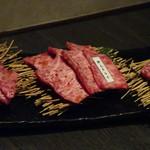 焼肉 武田や - ◆「トモ三角(2200円)」「特上カルビ(2200円)」「ランプ(1800円)」。
