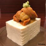 魚菜 - 嵯峨豆腐に生海胆