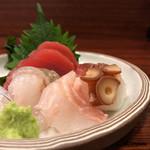 魚菜 - 寒鮃、王鰈、縞鯵、蛸、鮪赤身