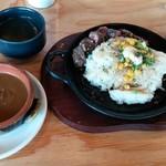 肉バルブッチャーズ 八百八 - 牛すじカレールー+ブッチャーライス