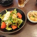 焼き鳥 金太郎 - 和風サラダ、厚揚げ