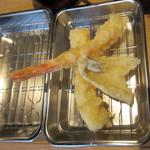 天ぷら さいとう 博多 - 海老、烏賊、きす