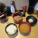 天ぷら さいとう 博多 - 食事、塩辛フリ~