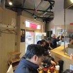 天ぷら さいとう 博多 - 店内カウンター