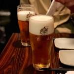 鳥みつ - エビスビール樽生(500円)