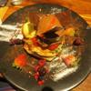 コナズ珈琲 - 料理写真:フォンダンショコラストロベリーパンケーキ