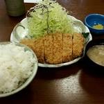 清水屋 - ランチの『上ロースカツ定食1,100円』