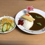 呉 ハイカラ食堂 - 海自潜水艦カレー(ミニサラダ付き)900円