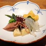 うつらうつら - 新物 ホタルイカと白魚の酢味噌