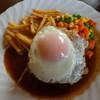 洋食 コンセンテイ 目黒屋 - 料理写真:ハンバーグステーキ1300円サラダ・コーヒー付き