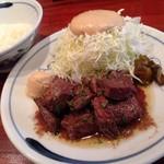 82477481 - ハラミステーキ ¥1,900                       (ライス・スープ) 付き