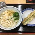 一福 - 本日のお昼は340円 冷かけうどん久しぶり\( 'ω')/