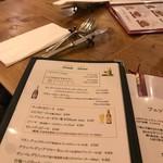 イタリア料理 ボンパスト - メニュー