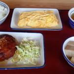 富山上袋食堂 - 新豆腐ハンバーグ・じゃこ玉子焼き・高野豆腐