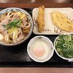 丸亀製麺 - 鴨ねぎうどん 540円(税別) かしわ天 140円(税別)、れんこん天 110円(税別)
