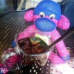 BARN COFFEE - アイスコーヒー ( 270円 )  番号札の猿